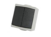 Interrupteur Va et Vient Double Etanche IP65 PERLE - Debflex 730150