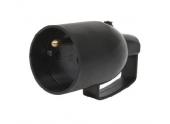 Fiche électrique Femelle avec anneau 2P+T Noire 250V 16A Sortie droite - Debflex 713560