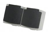 Prise 2P + T Double Etanche IP65 PERLE - Debflex 730200