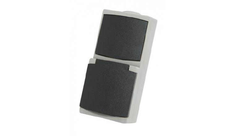 Prise 2P+T et Interrupteur Va et Vient Etanche IP65 PERLE - Debflex 730220