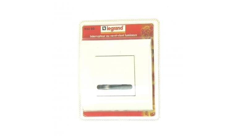 Interrupteur Va et Vient Lumineux Complet MOSAIC - Legrand 92302