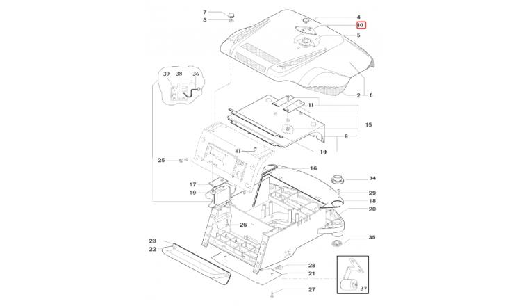 Contact Capot pour tondeuse Robot R20AC et R30AC - Ref 33900 - Outils Wolf