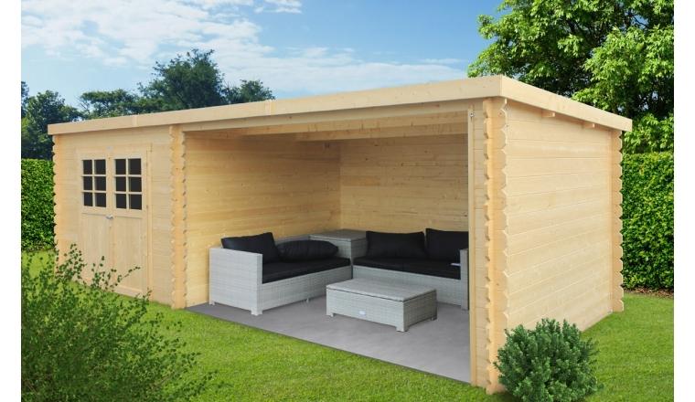 abri de jardin bois trait ou non 28 mm m solid. Black Bedroom Furniture Sets. Home Design Ideas