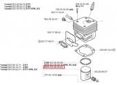 Segment de Piston pour Tronçonneuse CS2163, CS2171, 362 ... - Ref 503 28 90-42 - Husqvarna