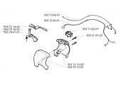 Gâchette de sécurité pour Débroussailleuse GR2026, GR2032, GR2036 ... - Ref 503 72 14-02 - Husqvarna
