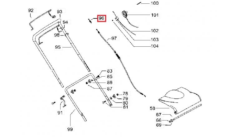 Ressort pour câble d\'avancement Tondeuse P5-875, M51-500 ... - Ref 531 21 05-73 - Husqvarna