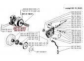 Engrenage à vis pour Embrayage de Tronçonneuse 266, 268, 272 ... - Ref 501 51 38-01 - Husqvarna