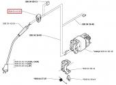Interrupteur démarrage Tronçonneuse Electrique 316, 16, 318 ... - Ref 508 03 41-03 - Husqvarna