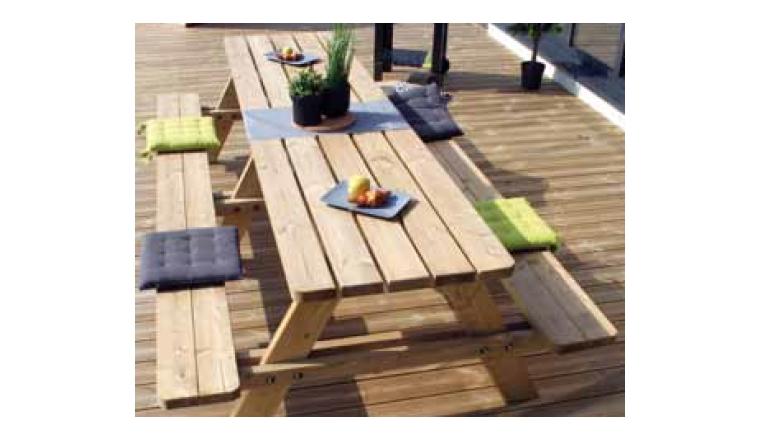 Table en bois MATISSE 3 mètres 8 Places - Ref 2778 - Madeira