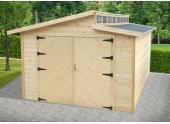 Garage en Bois TORINO Solid 20,06 m² avec porte Battante S8241
