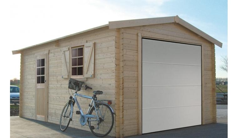 Garage en Bois Solid 17.07 m² Avec Porte Sectionnelle S8946