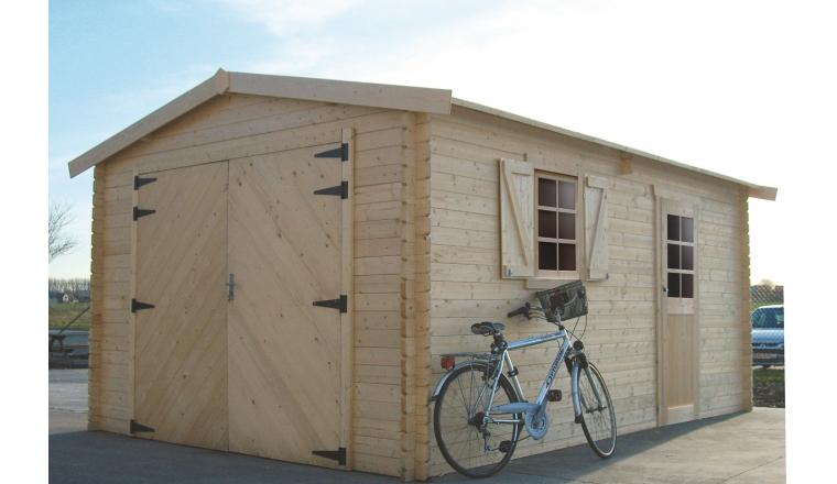Garage en Bois Solid 17.07 m² avec Porte Battante S8944