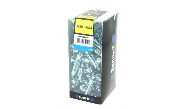 Boîte de 100 chevilles à Expansion Ø 6 mm x 50 mm - Scell It