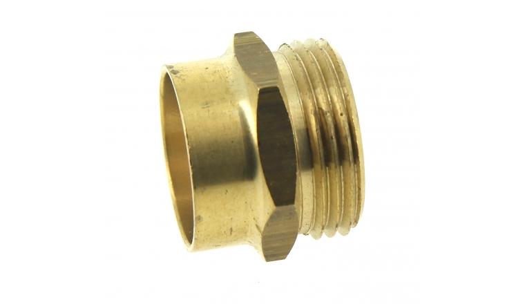 Manchon F à souder Ø28 mm et M à visser 26 x 34 - Ref 92438 - Comptoir de Picardie