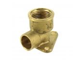 Raccord coudé applique 90° FF Ø 14 mm à souder et 15 x 21 à visser pour tube cuivre - Ref 92418 - Comptoir de Picardie
