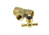 Té Purgeur à souder Femelle Ø 14 mm  pour tube Cuivre - Ref  90211 - Comptoir de PIcardie