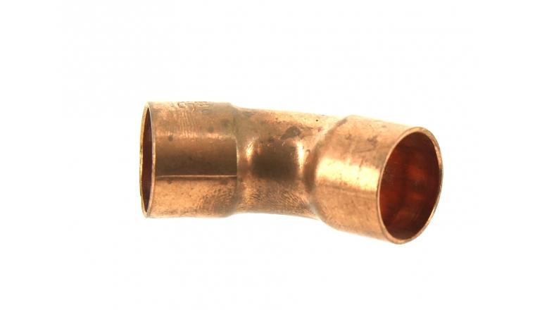 Raccord Coudé à 45° FF Ø 18 mm à Souder pour Tube Cuivre - Ref 92093- Comptoir de Picardie