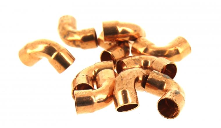 Lot de 10 Raccords Coudés à 90° FF Ø 12 mm à Souder pour Tube Cuivre - Ref 90070 - Comptoir de Picardie