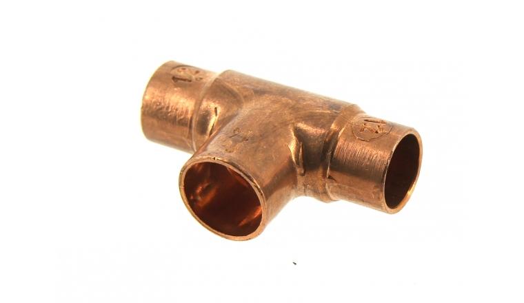 Raccord Té Réduit à Souder Femelle Ø 12/14 pour Tube Cuivre - Ref 92141 - Comptoir de Picardie