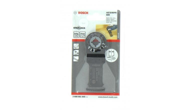 Lame plongeante AIZ32BSPB - 32 x 50 - Ref 2 608 661 645 - Bosch