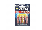 Pile LR03 (AAA) Max Tech 1.5 V - Lot de 4 - Varta
