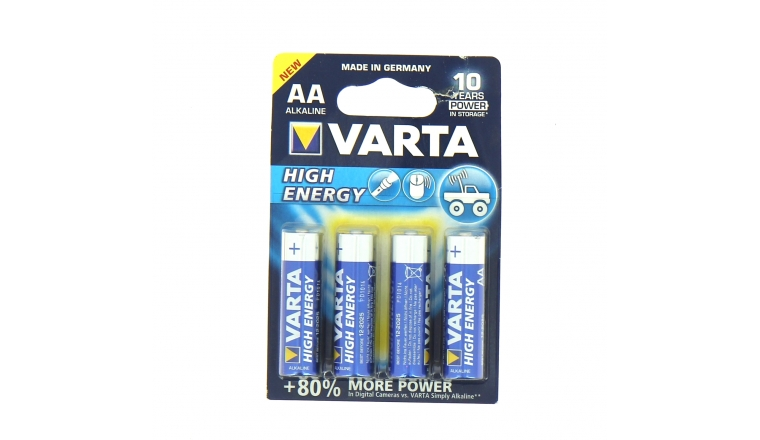 Pile LR6 (AA) High Energy 1.5 V - Lot de 4 - Varta