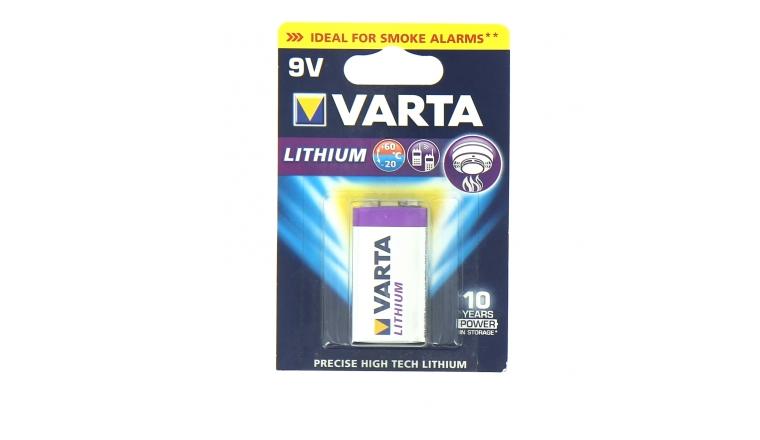 Pile 6LR61 Lithium 9V - Varta