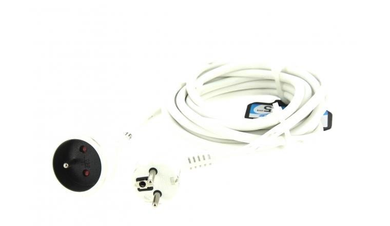 Rallonge Electrique Domestique blanche 5M - Prise 2P+T - 16 A