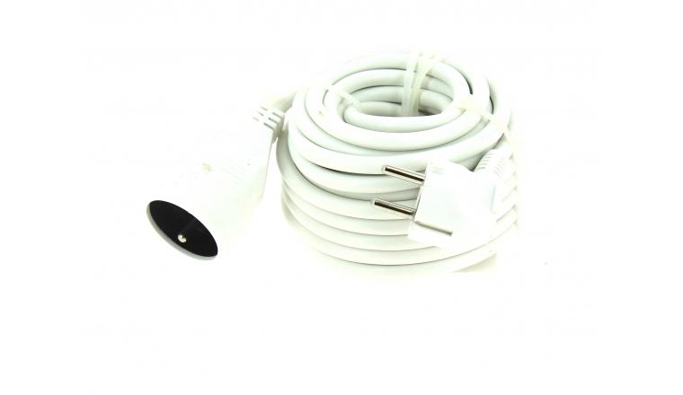 Rallonge Electrique Domestique blanche 10 mètres - Prise 2P+T - 16 A