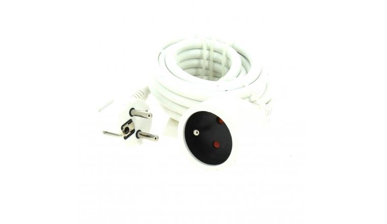 Rallonge Electrique Domestique blanche 3 mètre - Prise 2P+T - 16 A