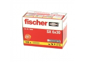 Cheville Nylon SX Ø 6 x 30 mm -Boîte de 100 - Fischer
