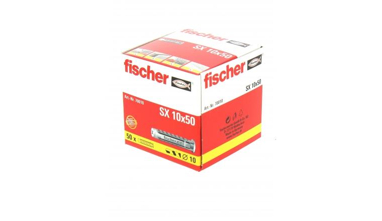 Cheville Nylon SX Ø 10 x 50 mm -Boîte de 50 - Fischer