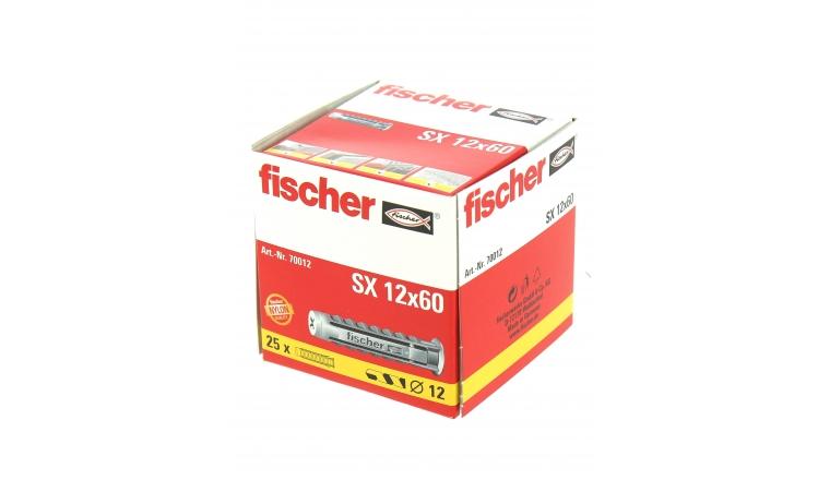 Cheville Nylon SX Ø 12 x 60 mm -Boîte de 25 - Fischer