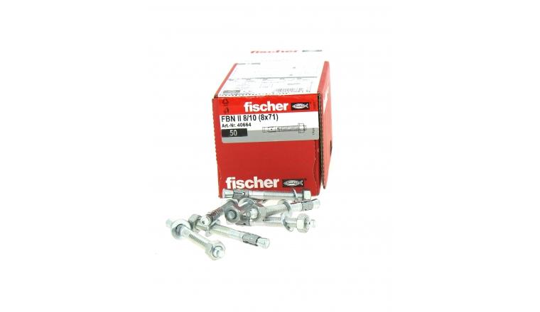 Goujons d\'Ancrage FBN II Ø 8 x 71 mm  Acier Electrozingué - Boîte de 50 -  Fischer