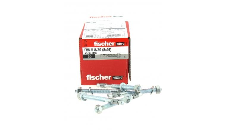 Goujons d\'Ancrage FBN II Ø 8 x 91 mm  Acier Electrozingué - Boîte de 50 -  Fischer