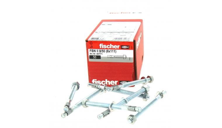 Goujons d\'Ancrage FBN II Ø 8 x 111 mm  Acier Electrozingué - Boîte de 50 -  Fischer