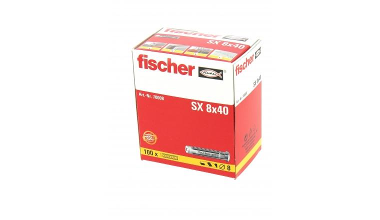 Cheville Nylon SX Ø 8 x 40 mm -Boîte de 100 - Fischer