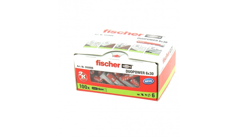 Cheville Duopower Ø 6 x 30 mm - Boîte de 100 - Fischer