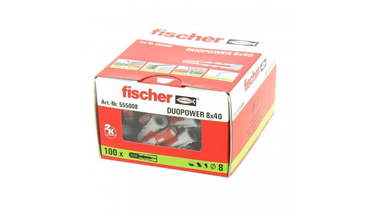 Cheville Duopower Ø 8 x 40 mm- Boîte de 100 - Fischer