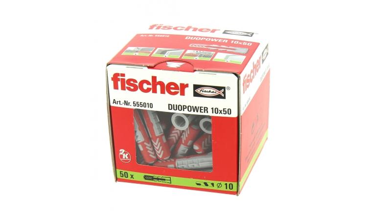 Cheville Duopower Ø 10 x 50 mm- Boîte de 50 - Fischer