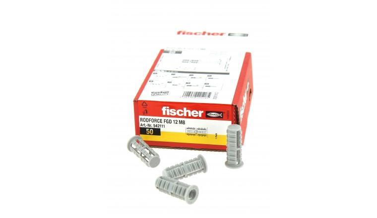 Cheville Nylon pour fixation de tige fileté M8 - Boîte de 50 - Fischer