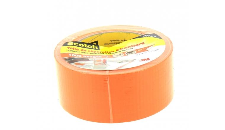 Adhésif de Réparation Toile Chantier Orange 25 m x 48 mm - 3M