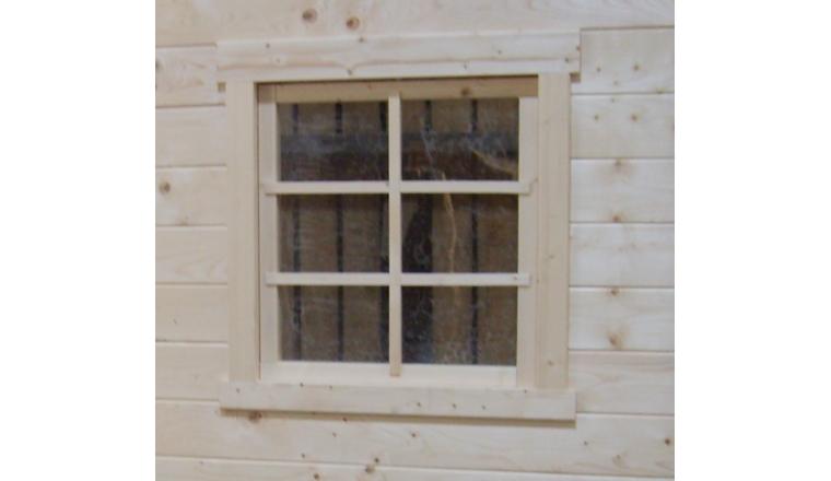 Fenêtre Traditionnelle en Bois pour Madrier de 28 mm Solid S8102