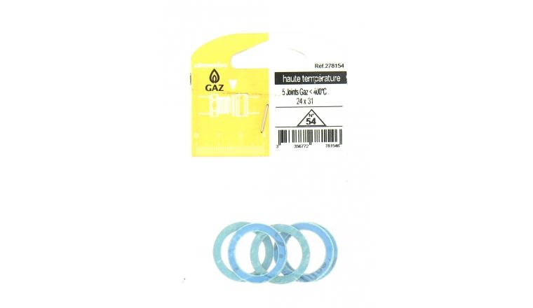 Joint Gaz pour Conduite haute température 24 x 31 - Lot de 5