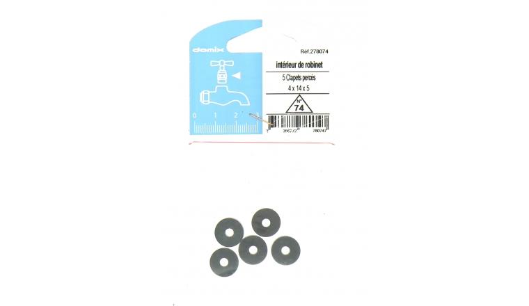 Lot de 5 Clapets Percés pour Robinet 4 x 14 x 5 mm