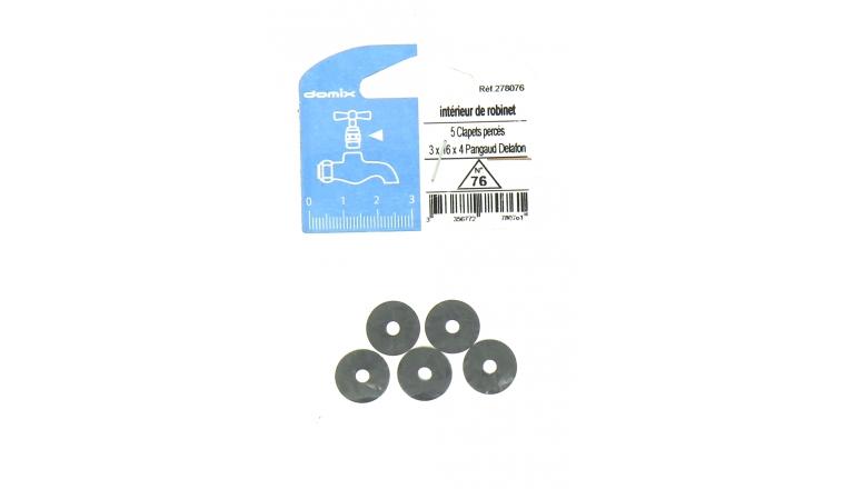 Lot de 5 Clapets Percés pour Robinet Pangaud Delafon 3 x 16 x 4 mm