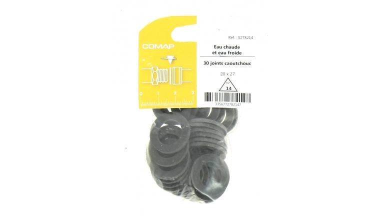 Joint caoutchouc pour Installation sanitaire 20 x 27 - Lot de 30 - Eau froide et Eau chaude