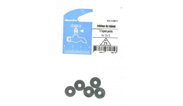 Lot de 5 Clapets Percés pour Robinet 4 x 13 x 5 mm