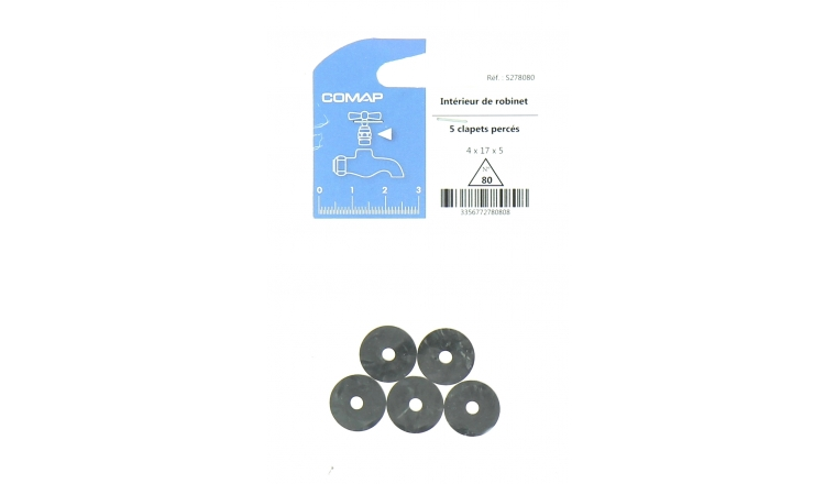 Lot de 5 Clapets Percés pour Robinet 4 x 17 x 5 mm
