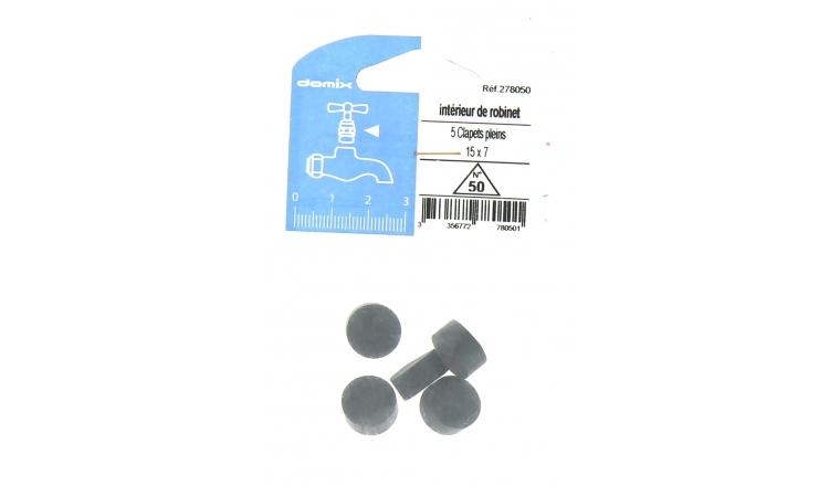 Lot de 5 Clapets Pleins pour Robinet 15 x 7 mm